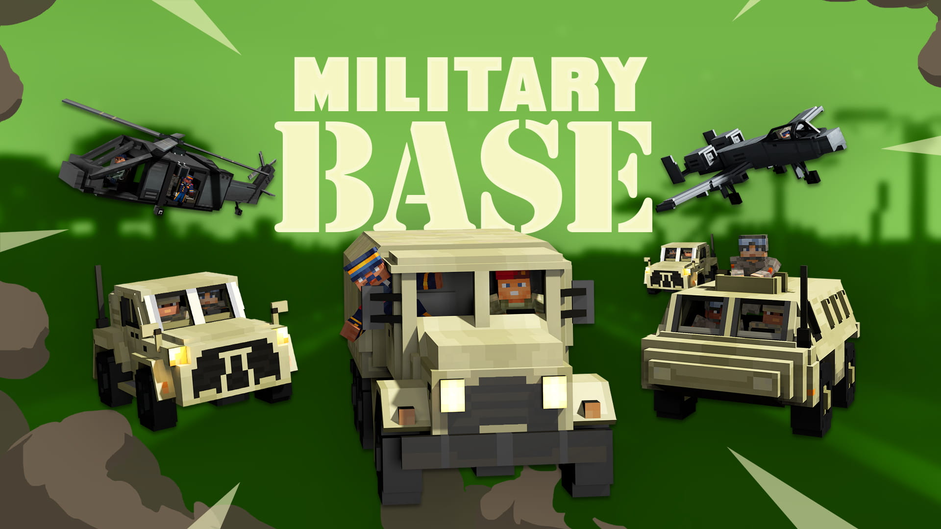 Minecraft Military Base Thumbnail Render